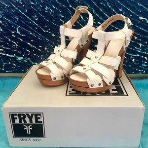 *BRAND NEW* Frye 'Dara' T-Strap Heels - White